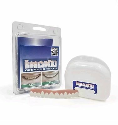 Imako Cosmetic Teeth, Snap On Smile, Veneers, Bleached, Natural look, Wedding