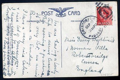 1937 KEVIII 1d CRISTOBAL CANAL ZONE PAQUEBOT Panama Postcard