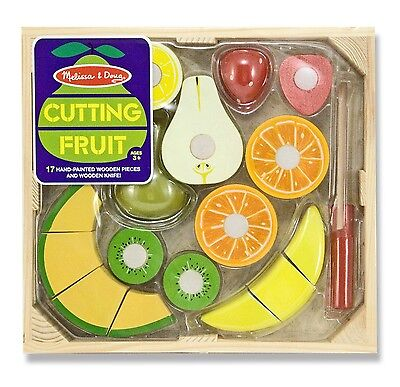 Melissa and Doug Cutting Fruit - Wooden Pretend Play Food - Chopping Fun