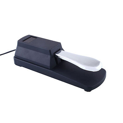Sustain Pedal Foot Switch Silver&Black For Piano Keyboard High quality New