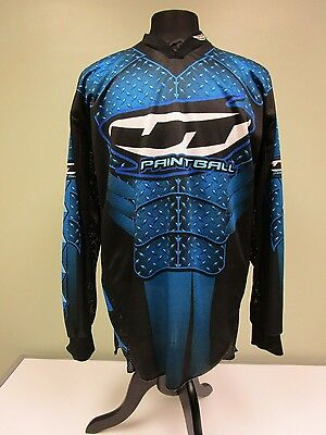 Jt Paintball Jersey Shirt Racing Blue Long Sleeve Mesh Underarm Men's Size Large