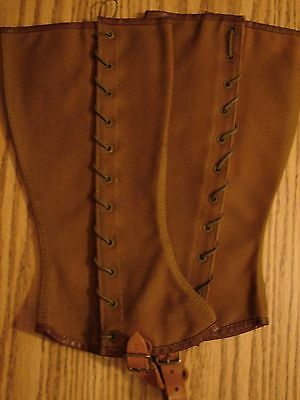 Original 1889 Pattern US Army-Cavalry Enlistedmans Brown Canvas Lace Leggings