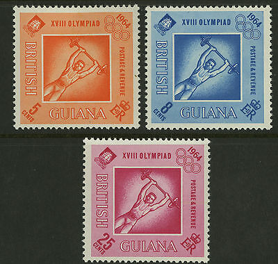 British Guiana  1964  Scott #  290-292  Miint Lightly Hinged Set