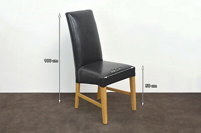 NEW dining chair high back faux leather restaurant cafe - light wood