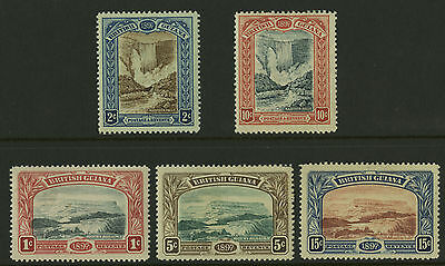 British Guiana  1898  Scott #  152-156  Miint Hinged Set