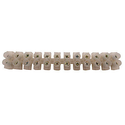 1 x 20A 12-Way Wire Plastic Connector Double Rows Fixed Screw Terminal Blocks