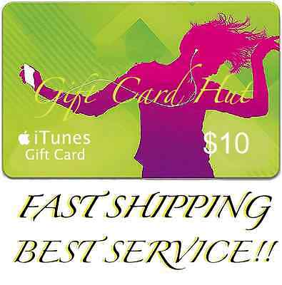 $10 US iTUNES CARD gift voucher certificate Apple USA USD iTune 100% Genuine