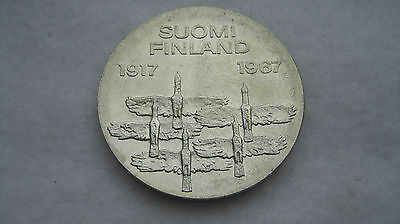 1967 10 Ten Markkaa silver coin from Finland. (F178)