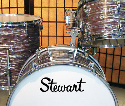 Stewart, 60s/70s Vintage, Repro Logo - Adhesive Vinyl Decal, for Bass Drum