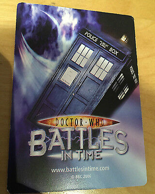 Doctor Who Battles in Time Trading Game Cards 2006 2007 BBC Human Cards