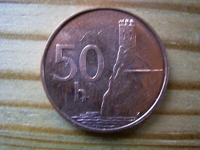 1996 Czechoslovakia 50 Helaru Coin Collectable