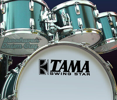 Tama Swing Star, 70s Vintage, Repro Logo - Adhesive Vinyl Decal, for Bass Drum6