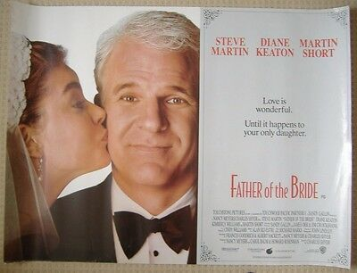 The Father of the Bride (1991) ORIGINAL ROLLED UK QUAD POSTER,  Steve Martin
