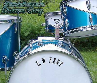 Kent, 60s Vintage, Repro Logo - Adhesive Vinyl Decal, for Bass Drum Reso Head