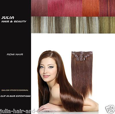 Full Head Clip in Remy Human Hair Blend Extension (6 Pcs same Length) Grade A+