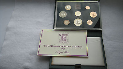1983 United Kingdom Royal mint deluxe proof set in blue leather case