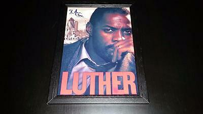 """Luther Pp Signed & Framed A4 12""""x8"""" Photo Poster Dci Idris Elba"""