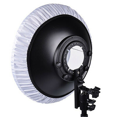 "16"" Flash Beauty Dish Black White Reflector Bracket for Canon Nikon Speedlite"