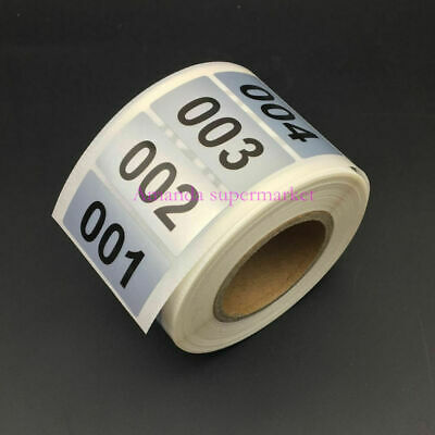 "1000 Labels 1.57*0.78"" Consecutive Number Inventory stickers Silver Waterproof"