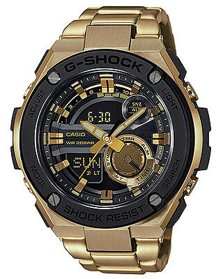 New G Shock Men's G-Steel Watch Stainless Steel Gold