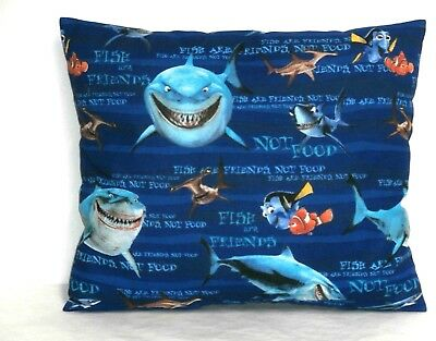 Nemo and Friends Toddler Pillow on Blue Cotton N1-23P  New Handmade