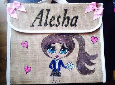 STYLE //GIFT//music GIRLS PERSONALISED School BOOK BAGS ANY NAME ANY UNIFORM