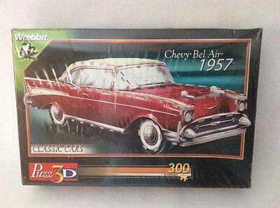 PUZZ 3D Puzzle By WREBBIT 1957 CHEVY BEL AIR (New/Sealed) 300 Pc Collector Car
