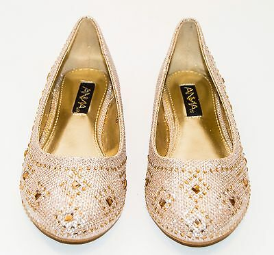 Girls Shoes Kids Ballet Rhinestone Flats Glitter Slip On Ballerina Loafer  Casual