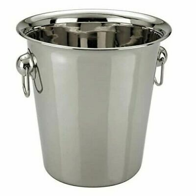 2 x Champagne Ice Bucket Stainless Steel Wine Cooler Bucket with Ice Picker tool