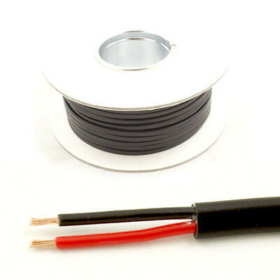 *16.5 AMP Rated* 1mm2 Thin Wall 2 Twin Core Cable Wire Car LED Lights