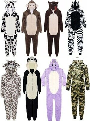 New All in one  Kids luxury Fleece Piece Pyjamas Jump Sleep Suit PJs Nightwear