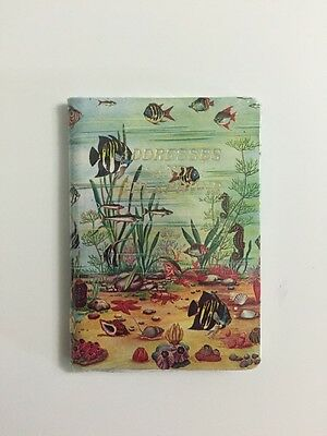 New old Stock Mini Address Book Addresses and Telephone Ocean Fish Underwater
