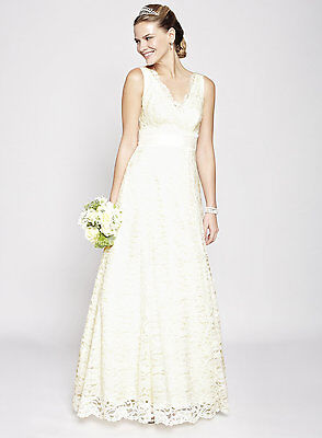 BNWT SIZES 8-22 BHS Ivory Bella Lace Wedding Dresses, RRP £165
