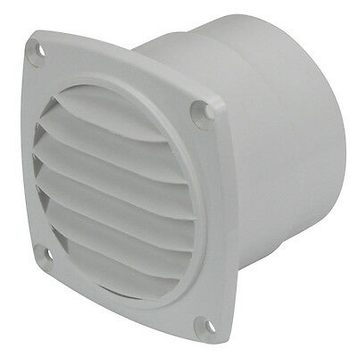 "NEW Bilge Blower Air Vent Outlet 75mm (3"") Louvre Air Vent Exhaust Outlet White"