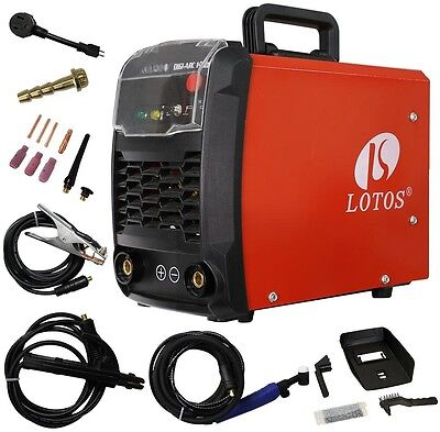 LOTOS TIG 140 Amp DC TIG And DC STICK Welder With IGBT Dual Voltage New!