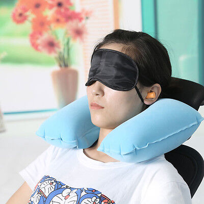 Cushion UPillow Car Flight Travel Portable Inflatable Soft Neck Rest Support
