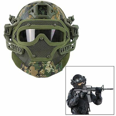 All-round Airsoft Paintball Tactical Fast Helmet Jump Protection Mask Googles DW