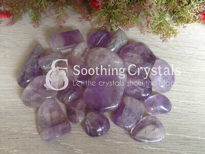 Ten (10) CLEAR QUARTZ Tumbled Stone Healing Stone Energy Crystal Healing ~ TS14