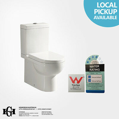 HT-013 Curved/Round Ceramic Washdown Back to Wall Faced Toilet Suite S&P Trap