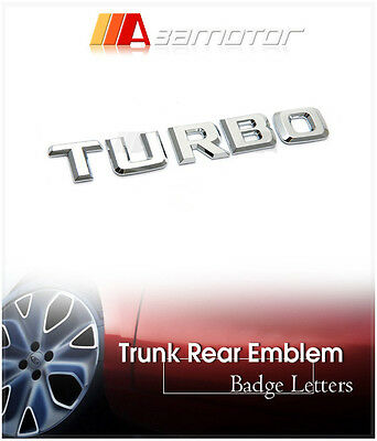 TURBO Rear Trunk Chrome Emblem Letter Badge Letters for Mercedes C E S G SL AMG