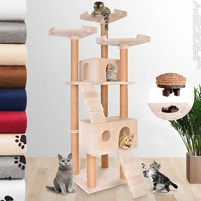 171.5cm Cat Scratching Post Tree Climbing Larger Lying Surface & Caves Choice