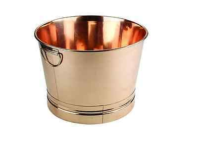 7.75 Gal.Round Copper PartyTub Ice Buckets Alcohol, Wine Coolers Entertainment