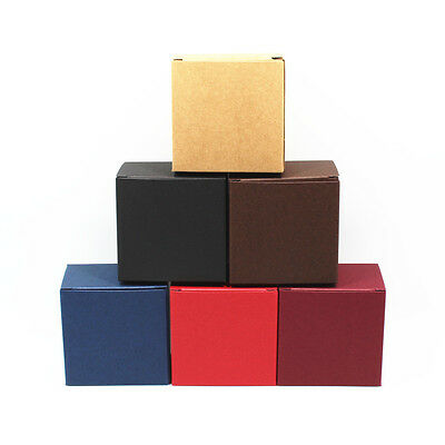 6.8x4.5x6.8cm Six Color Kraft Paper Gift Cardboard Foldable Package Box
