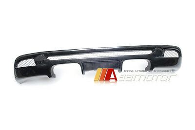 1M-Look Carbon Fibre Rear Diffuser Quad for BMW 1-Series E82 E88 M Sport Bumper