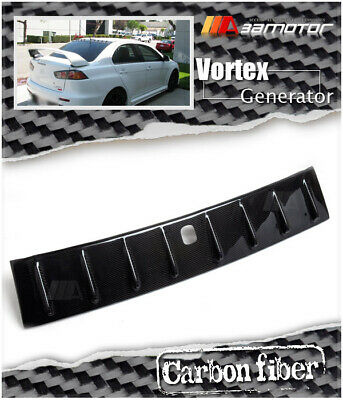 Shark Fin Carbon Vortex Roof Generator w/ Antenna 5x6cm for Mitsubishi EVO 10 X