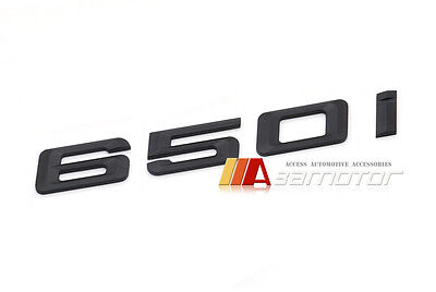 BMW E63 E64 F06 F12 F13 6-Series Matte Black Trunk Rear Emblem Badge Letter 650i