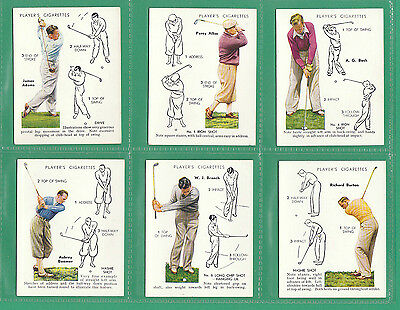 Golf  -  John  Player  (Overseas)  -  Rare  Set  Of  L 25  Golf  Cards  -  1939