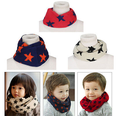 One Circle Neck Warm Baby Knitted Wool Snood Toddlers Circle Scarf O Ring Shawl