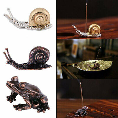 Frog Snail Incense Burner Cone Holder Plate for Stick & Cone Incense 3 Colors