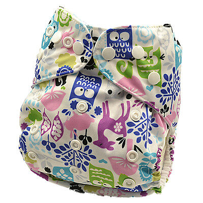 New Washable Reusable Modern Cloth Nappy Nappies MCN Baby Shower Gift (D123)